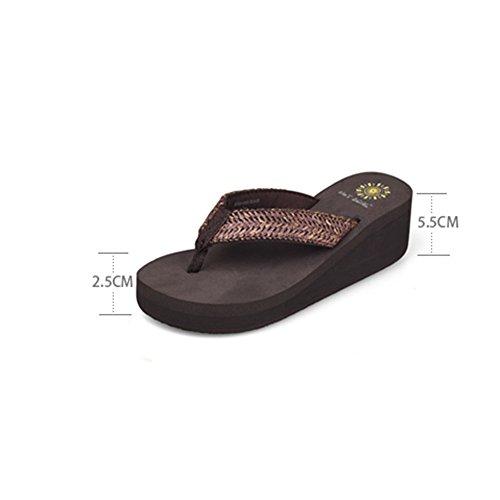 Color Tamaño mujer Zapatos para para playa EU39 de 2 playa UK6 ocasionales de mujer Zapatillas Sandalias antideslizantes 2 CN39 w1B7HB