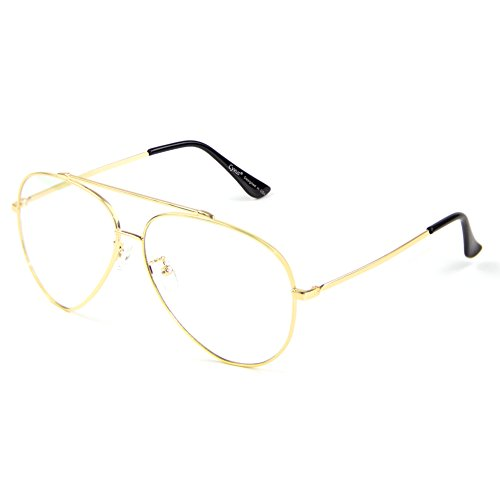 Cyxus Blue Light Blocking Glasses for Computer Use, Anti Eyestrain Lens TR90 Frame Eyeglasses, Black, Men/Women (Gold)