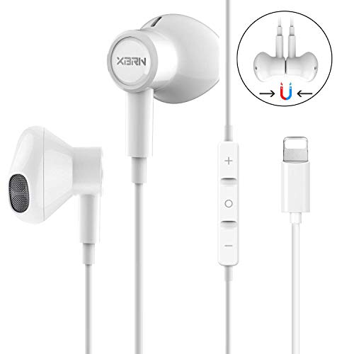 Headphones Earphones Earbuds with Microphone and Remote Control, MFi-Certified, Compatible with iPhone X/XS/Xs Max/XR iPhone 8/P iPhone 7/P, in-Ear, (Best Earphones With Remote)