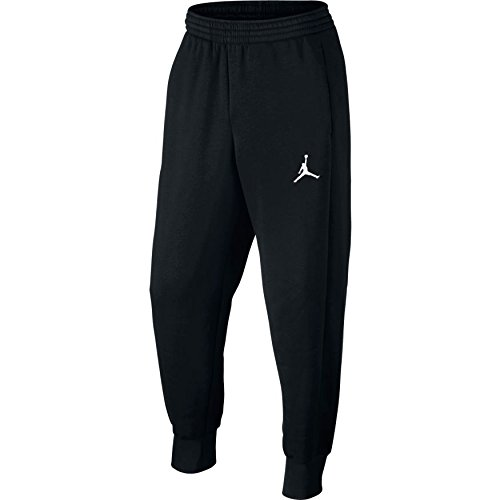 Nike Mens Jordan Flight Basketball Ribbed Cuff Sweatpants Black/White 823071-010 Size Large by NIKE
