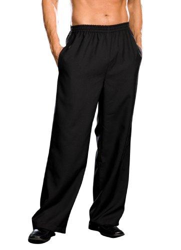 Dreamgirl Men's Elastic Waist Basic Pant, Black, X-Large (Mens Renaissance Boots)