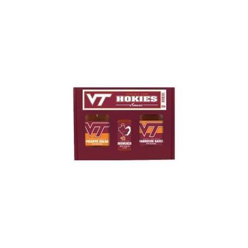 Virginia Tech Hokies NCAA Tailgate Kit (5oz Hot Sauce, 16oz BBQ Sauce, 16oz Picante -