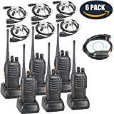BaoFeng BF-888S Two Way Radio with Built in LED Flashlight Pack of 6 Covert Air Acoustic Tube Headset Earpiece