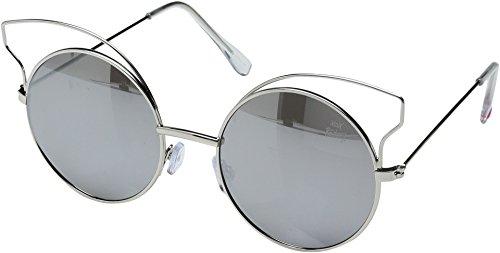 Betsey Johnson Women's BJ475109 Silver - Cat Betsey Sunglasses Eye Johnson