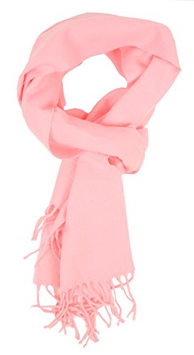 Love Lakeside-Womens Cashmere Feel Winter Solid Color Scarf (One Light Pink)