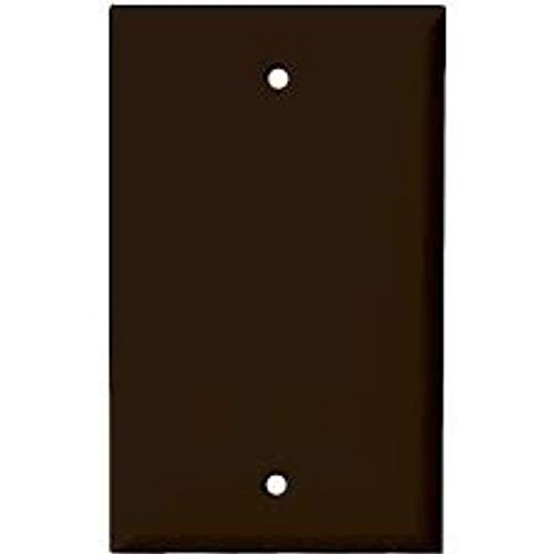Blank Wall Plate Cover, 1 Gang Faceplate, Thermoplastic/Nylon Outlet Cover, Cover Unused Phone Jacks, Electrical Boxes, Receptacles, Electric Outlets (1 Pack, Brown)