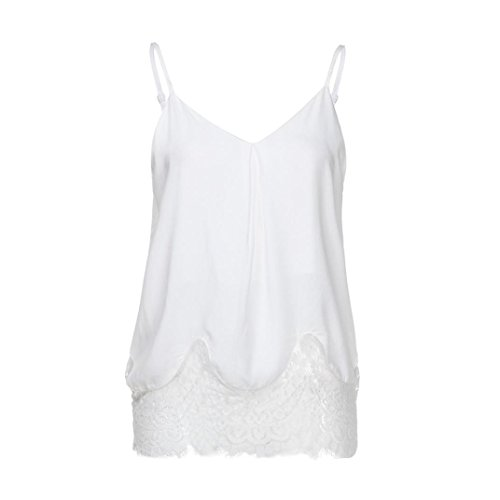d25eb7d766aab Hmlai Hot Sale Women Summer Lace Cami Vest Sleeveless Blouse Casual Loose Tank  Tops T-