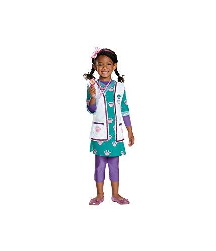 Disguise Little Girls' Doc McStuffins Vet Baby Costume - Toddler (3T-4T) - Doc Mcstuffins Costumes Shoes
