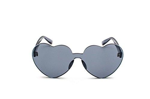 Mujer Transparente Negro Amor de de Negro Gafas Sol Bastidor Gafas DESESHENME sin Tinte Gafas Claro Vintage Reborde Sol Corazón pPtSnxTwq