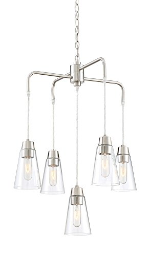 Designers Fountain Contemporary Chandelier - Designers Fountain 87885-SP Chandelier, Satin Platinum