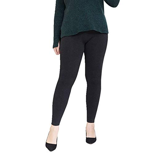 SOSUSHOE Womens Plus Size Leggings High Waist Stretch Pants Extra Soft Ankle Length, Grey