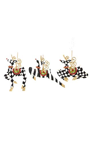 MacKenzie-Childs Dashing Reindeer Ornaments - Set of 3