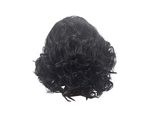 Halloween Costumes With Short Hair (COSJP Throne Jon Snow Cosplay Wig Halloween Costume Mens Short Black Curly Fluffy Hair)