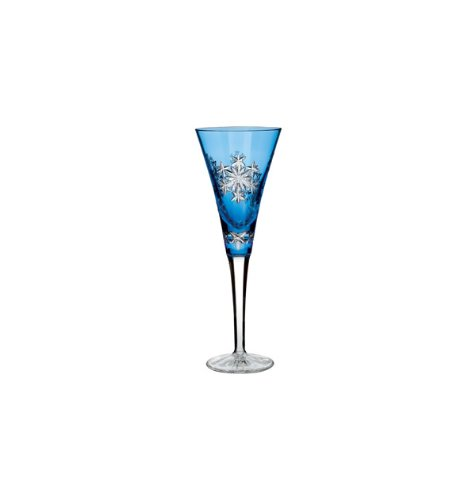 Waterford Snowflake Wishes 2013 ''Goodwill'' Kerry Prestige Edition Light Blue Flute Glass by Waterford