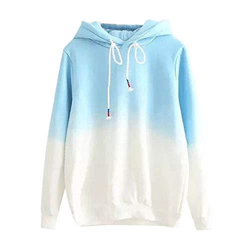 KIKOY Long Sleeve Women Hoodie Print Patchwork Sweatshirt Pullover Tops Blouse ()