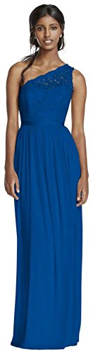 Long One Shoulder Lace Bridesmaid Dress Style F17063  Horizon  0