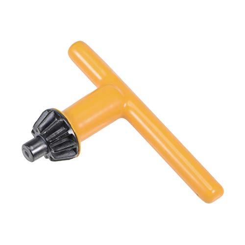 uxcell Chuck Key 8mm Pilot 11 Teeth for 3-16mm Drill Chuck Yellow ()