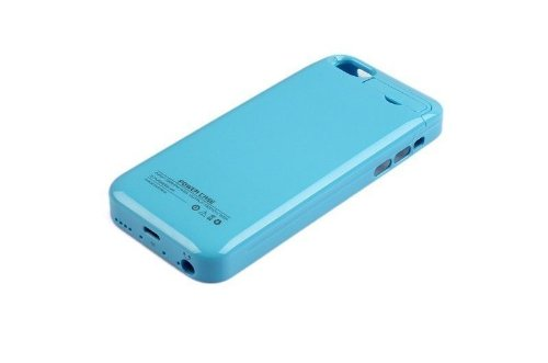 G4GADGET® 2200mah Power External Battery Blue Case for Iphone 5/5S/5C