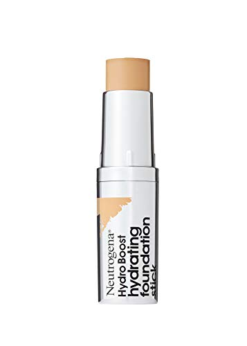 Neutrogena Hydro Boost Hydrating Foundation Stick with Hyaluronic Acid, Oil-Free & Non-Comedogenic Moisturizing Makeup for Smooth Coverage & Radiant-Looking Skin, Natural Beige, 0.29 oz (Best Full Coverage Non Comedogenic Foundation)