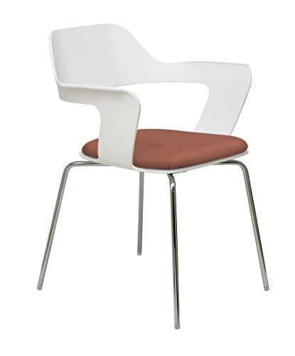 KFI Seating Julep Stack Chair with Flex Poly Shell, Chili