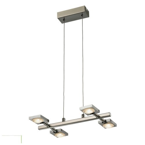 Artistic Lighting Reilly Collection 4 Light Led Chandelier, Brushed Nickel/Brushed Aluminum