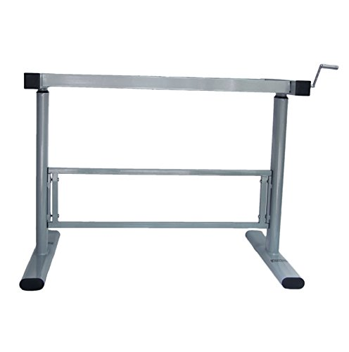 Manual height adjustable standing desk base frame stand for Table up and down