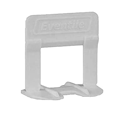 """Eventile Tile Leveling System Clips Spacers Clips Gray 3/16"""" 4mm 250/Bag"""