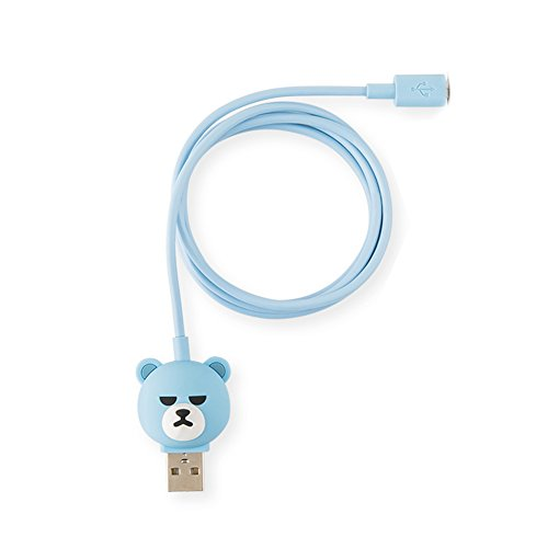 YG ENTERTAINMENT Idol Goods Fan Products YGeShop KRUNK USB CHARGER AND SYNC USB CABLE YG Celebrity Bear (5 PIN (Android))
