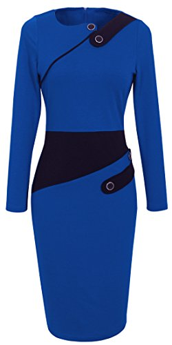 blue work dress - 7