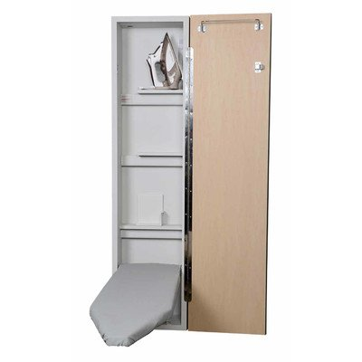 Premium Non Electric Ironing Center Door Hinge: Right, Color (Door Style): Raised Maple