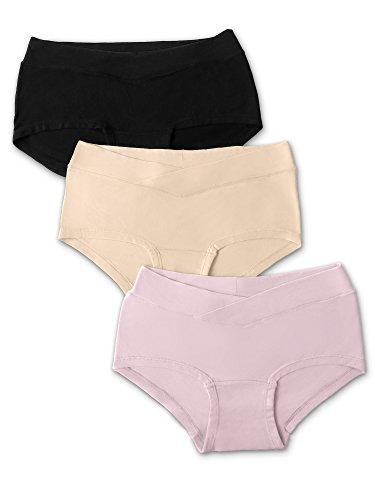 Kindred Bravely Under The Bump Seamless Maternity Underwear/Pregnancy Panties - Hipster (Medium, Assorted, 3 Pack)