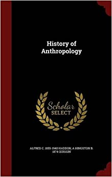 Book History of Anthropology