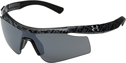 (Under Armour Dynamo Youth 8600067-008801 Sunglasses, Shiny Black, 117 mm)