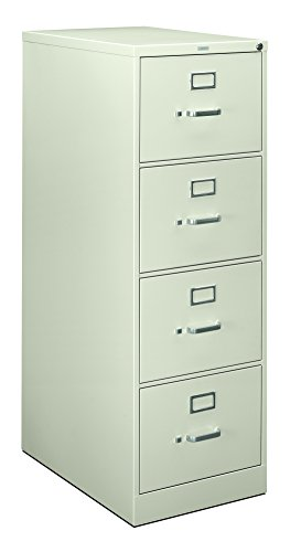 (HON H324CQ H320 Series 26-1/2-Inch 4-Drawer Full-Suspension Legal File, Light Gray)