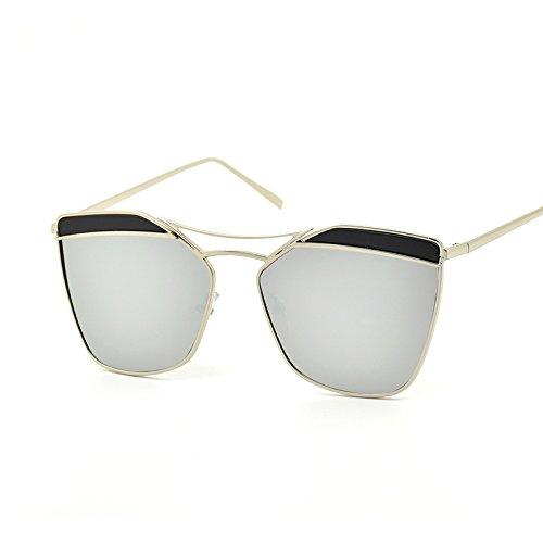 Silver Silver De Personalidad Gafas De Sol De Moda Sol Creativas Gran CHIRH Gafas Nuevas Sol De De Gafas xqFwpHgZaT