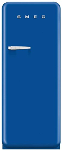Smeg FAB28UBER1 50s Style 9.2 Cubic Feet Blue Right-hand Refrigerator with Freezer Compartment