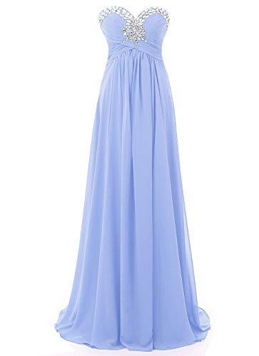 Damen Formales AbendKleid Helles Lang Prom Brautjungfer Abend Kmformals Lila Kleider 1xPdwB1q