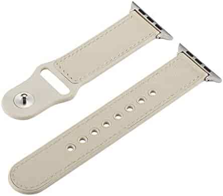 Tonsee Classic and Fashion Weave Watch Band, PU PU Leather Adjustable Wrist Watch Strap Replaceme for for Apple iwatch Smart Watch 40mm