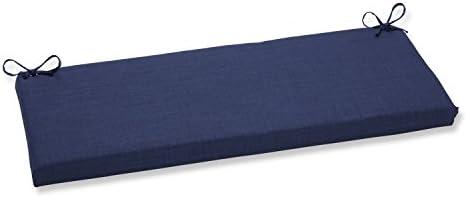 Pillow Perfect Outdoor/Indoor Rave Indigo Bench/Swing Cushion