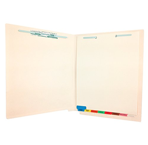 Medical Arts Press Match End Tab File Folders with 8 Bottom Tab Medical Chart Divider Set (25/Box)