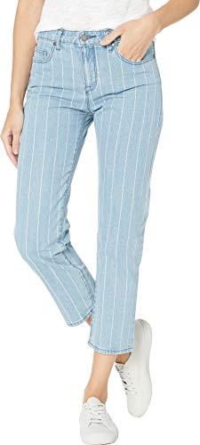 Roxy Women's Like A Boy Striped Denim Pants Medium Blue 27 26.5 ()