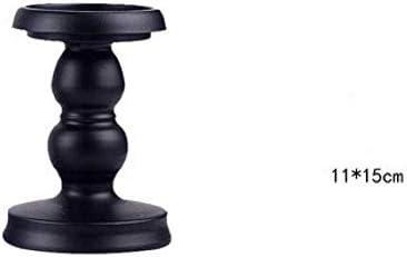 クリスマスキャンドルホルダークリエイティブアイアンアートキャンドルホルダーブラックキャンドルスティックウェディングセンターピーステーブル用キャンドルホームデコレーション、L 11X25Cm