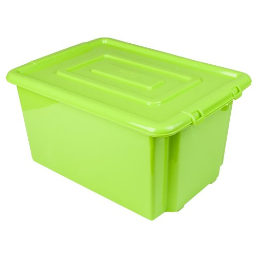 Superbe New Green Whitefurze Plastic Stackable Container Large Storage Box With Lid  52l: Amazon.co.uk: Kitchen U0026 Home