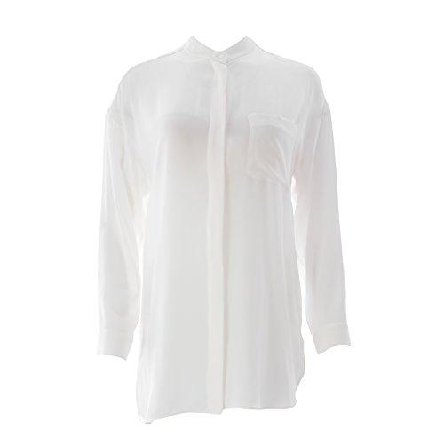 MaxMara Max Mara Women's Tilde Silk Tunic Blouse SZ 8 White (Silk Max Mara)