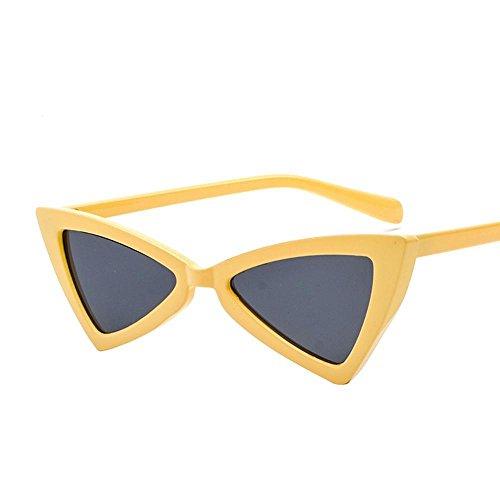 Aoligei Triangulaire réflectorisé lunettes Dame européens et américains lunettes de soleil marée papillon fashion Shoot Street nYVFTDQ2K