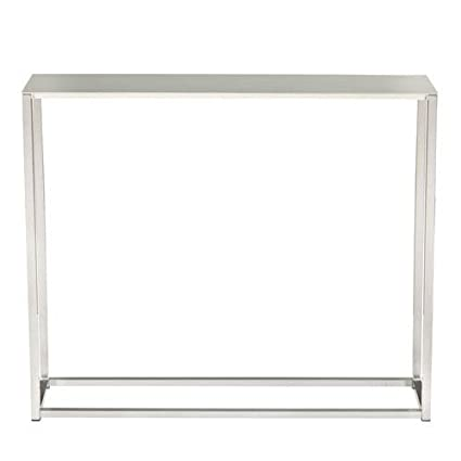 Euro Style Montclair 36u0026quot; Console Table In Brushed Aluminum