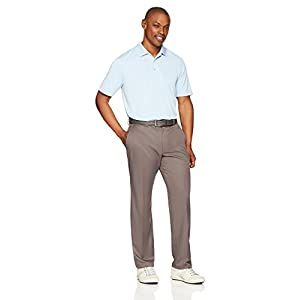 Amazon Essentials Mens Regular-Fit Quick Dry Golf Polo Cleaning Shirt - worn in white
