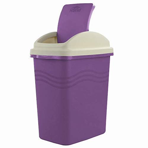 Ggbin 10 L Plastic Trash Cans, Swing Trash Bins for Kitchen, Office