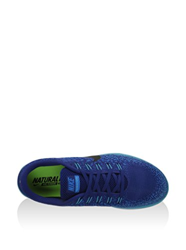 Chaussure De Course De Distance De Rn De Nike Mens Libre (10 D (m) Nous, Bleu Royal Profond / Noir / Héritage Cyan)