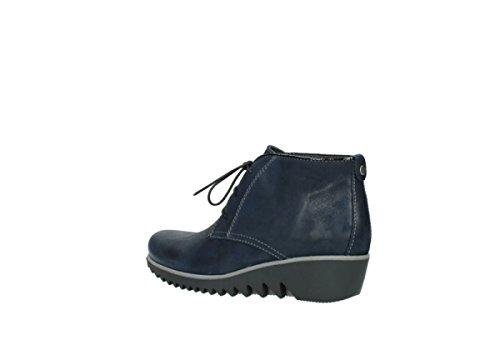 Dark Leather Blue Oiled Wolky de Zapatos 03818 Rosa 50800 nbsp;Diseño Comodidad de Invierno Encaje vHPqOw